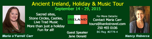 Ancient Ireland, Holiday & Music Tour with Maria O'Farrell Carr & Nancy Rebecca (September)