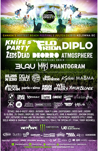 Center of Gravity Beach Festival in Kelowna - July 2015