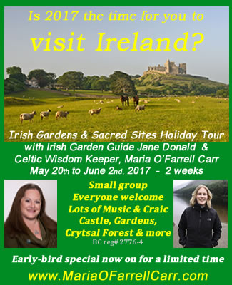 Irish Gardens and Sacred Sites Holiday Tour 2017