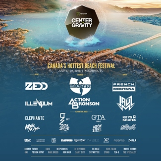 Center of Gravity Festival in Kelowna July 27th to 29th, 2018