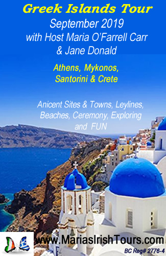 Greek Islands Tour - October 2019 - Host Maria O'Farrell Carr