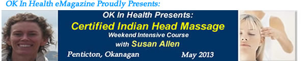 Indian Head Massage Certificate Course - Penticton , BC